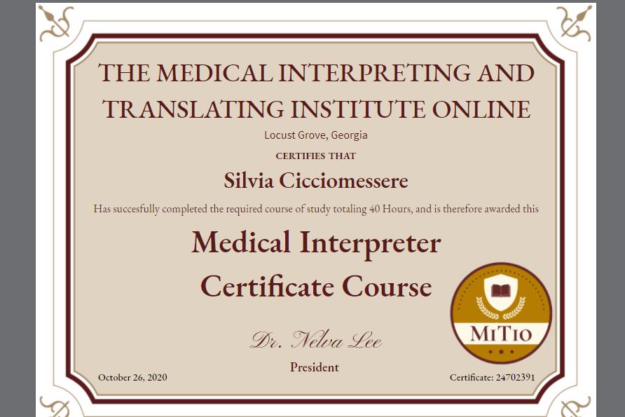 interprete medico a roma