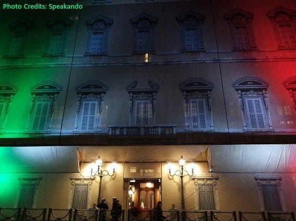 bandiera italiana roma